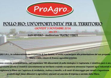 """""""Pollo Bio: un'opportunità per il territorio"""" il 3 Novembre alle 19.00 presso il Teatro Verdi"""